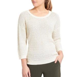 Athleta Seychelles Sweater Cream Open Weave XXS